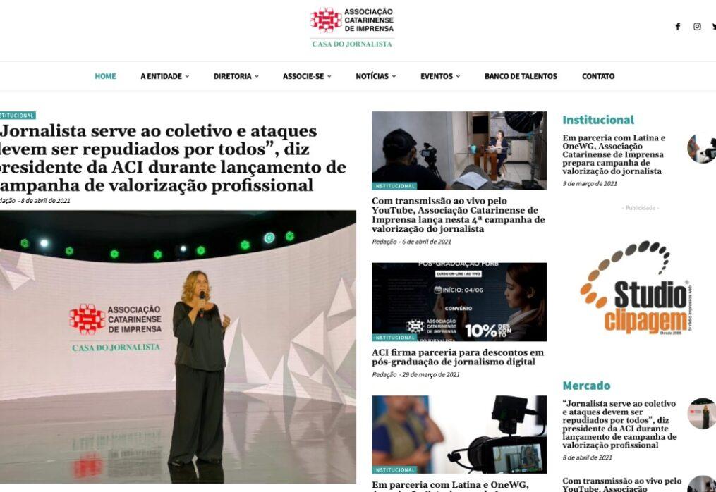 Associação Catarinense de Imprensa lança portal com Banco de Talentos
